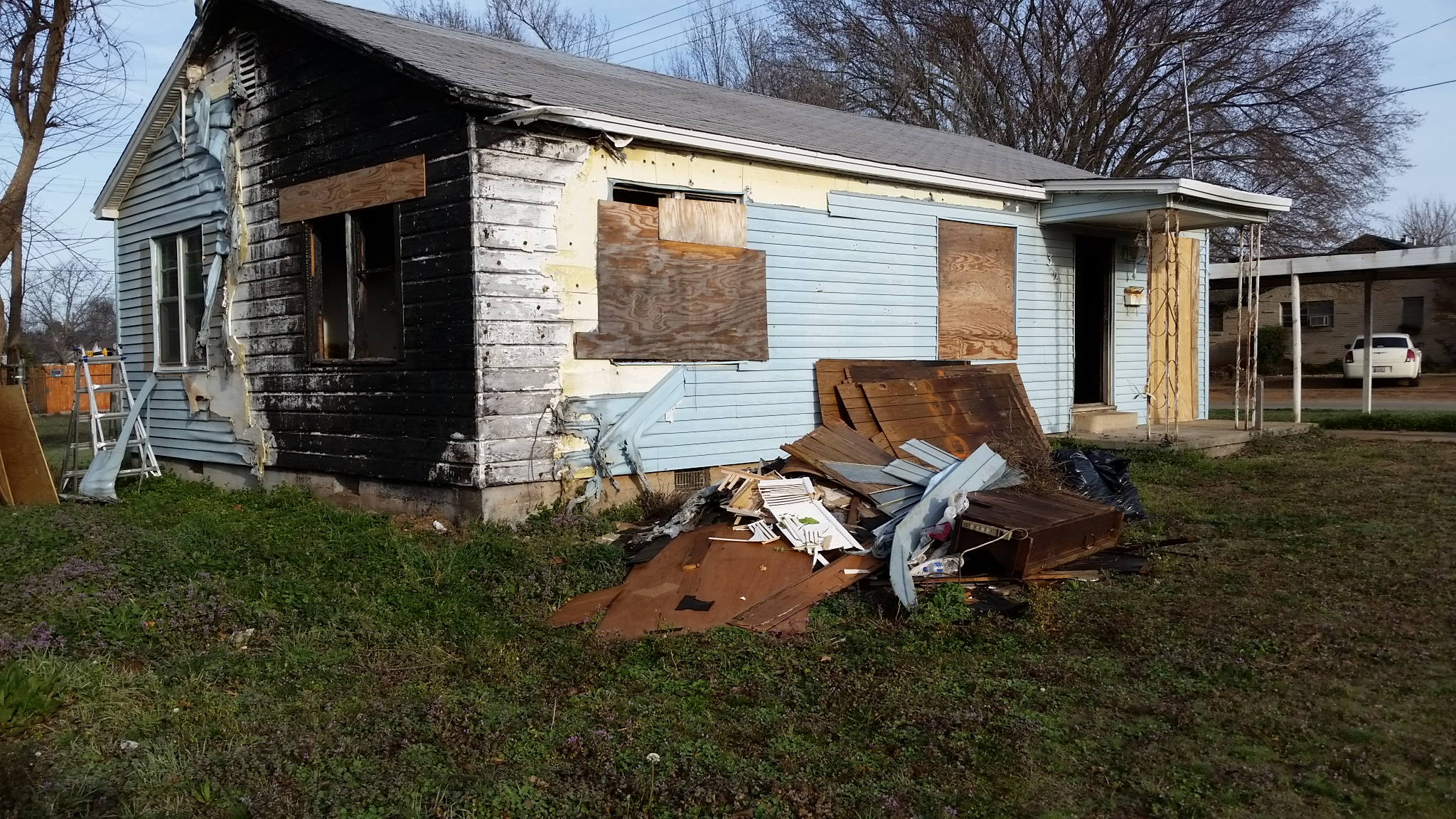 This home in Duncan had caught fire and burned three bedrooms, bath room and hallway.